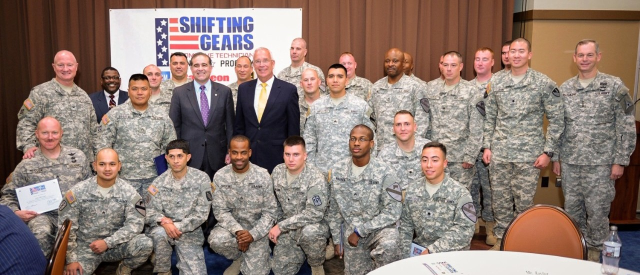 "GM, Raytheon and Army Graduate First ""Shifting Gears"" Soldier Auto Technicians"